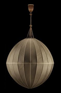 Josef Hoffmann design - Made for the Graben café, Vienna 1928/29. Silk  Executed by the Wiener Werkstaette H. 150 x Diam. 80 cm