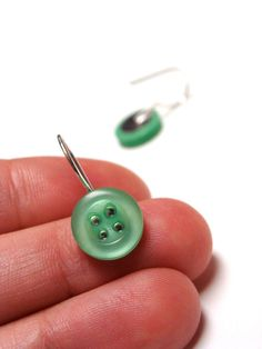 "Mint Green Earring Drops ""Scent of Spring"" by ChatterBlossom on Etsy"