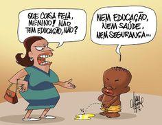 Sorriso Pensante-Ivan Cabral - charges e cartuns: Charge do dia: Educação