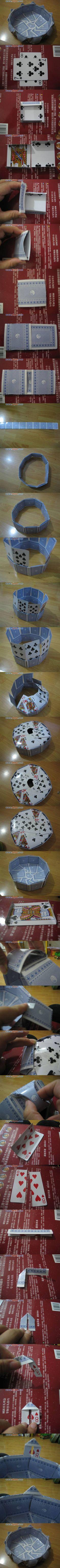 DIY Vase of Playing Cards