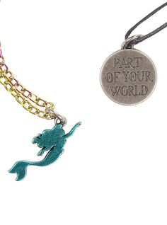 Disney The Little Mermaid Part Of Your World Layer Necklace Set,