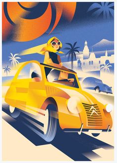 Mads Berg's illustrations are characterized by a style which translates classic poster art to a modern and timeless look. Art Deco Illustration, Graphic Illustration, Art Deco Posters, Vintage Posters, Kunst Poster, Inspiration Art, Art Graphique, Art Deco Design, Art Deco Fashion