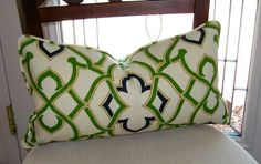 "Waverly's Linked Dawn Lumbar Pillow Cover 12"" x 20"" $30"