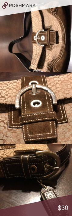 Coach buckle purse Cute baguette purse.  Used once.  One minor mark on buckle.  Hard to notice.  Clean inside. Bags Satchels