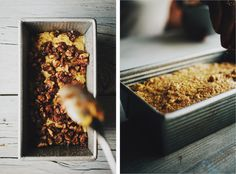 Pumpkin Bread with Toasted Walnut Cinnamon Swirl - Sprouted Kitchen could easily sub the 1 egg with flax or chia seeds...looks like pumpkin coffee cake!