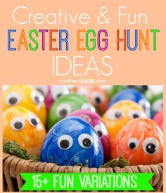 Creative Easter Egg Hunt Ideas... I especially love the idea of color coding eggs!