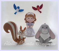 Princesa Sofia e sua turma em feltro para decorar festa ou quarto infantil…