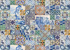 Azulejos de Portugal em tecido