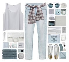 """""""#12 just enjoy the show"""" by stellular ❤ liked on Polyvore featuring Monki, Converse, Maison Margiela, Johnstons, Cara, Chanel, Karlsson, Juliska, Fujifilm and Linum Home Textiles"""