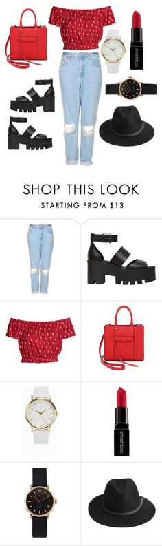 """""""Rocking the red edge ✌"""" by anyaaa04 on Polyvore featuring Topshop, Windsor Smith, Rebecca Minkoff, NLY Accessories, Smashbox, Marc by Marc Jacobs, BeckSöndergaard, Beauty, fashionblogger and beautyblogger"""
