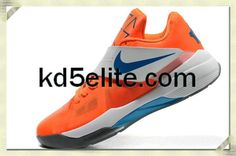 100% authentic 5af82 e9c69 Nike Cheap KD 4 Vivid Team Orange Photo Blue White Kevin Durant New Shoes
