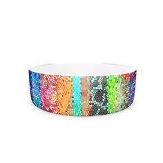 Kess InHouse Catherine Holcombe Stained Glass Batik Mosaic Stripe Pet Bowl 7Inch >>> Check this awesome product by going to the link at the image.(This is an Amazon affiliate link and I receive a commission for the sales)