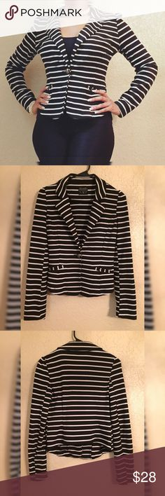 "Nice Striped Blazer/Suit Jacket In good condition! Length of jacket is 22.5"". Length of sleeves is 25"". Love Culture Jackets & Coats Blazers"