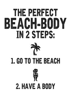 Typo Poster Strandkörper // typo print perfect beach body, humour, funny by typealive via DaWanda.com