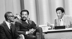 1969 - Bill Cosby guest hosting the Tonight Show w/guests Jim Brown and Satchel Paige
