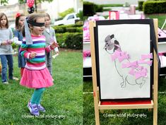 Pin the bow on Weeny- Eloise Party - so cute.