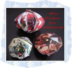 Christmas Card Strip Ornaments