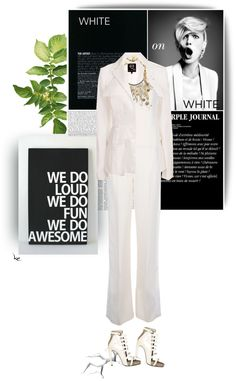 """""""White on White"""" by kat1973 ❤ liked on Polyvore"""