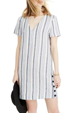 online shopping for Madewell Easy Side Button Linen Dress from top store. See new offer for Madewell Easy Side Button Linen Dress Striped Fabrics, Striped Linen, Linen Dresses, Casual Dresses, Nordstrom Dresses, Women's Fashion Dresses, Dress Patterns, Blouse Designs, Madewell