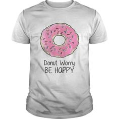 f82f6ab0 ZOE LAVERNE ADJUSTING HER DONUT WORRY BE HAPPY SHIRTS. Fashion Trending T- shirt Store