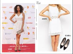 Resultado de imagen para vestido blanco troquelado