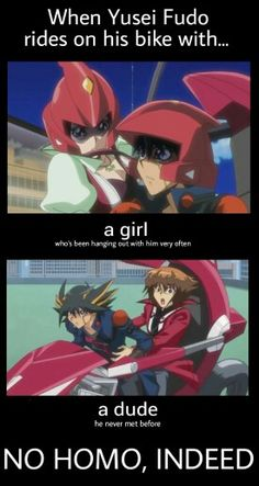 "Yusei is ""definitly"" not gay"