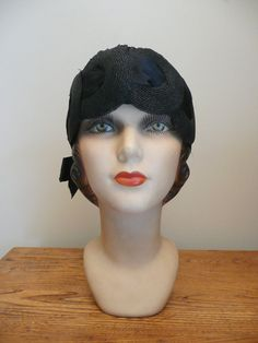 Vintage 1920s 1930s NOS NWT Black Flapper by CreatedAndCollected
