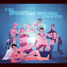 If male superheroes were treated equally...