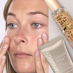 Beauty Tip: Lock your Liquid Minerals Foundation in place by applying Smooth Affair Facial Primer and Brigthener first. If your skin is oilier, use the new Smooth Affair For Oily Skin. Don't forget a light dusting of powder for SPF!