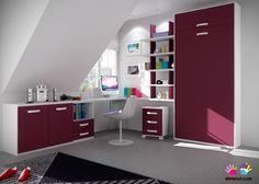 Dormitorio abuhardillado con abatible vertical