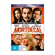 Mortdecai DVD Brand New Region 4 Aust. - Johnny Depp, Gwyneth Paltrow