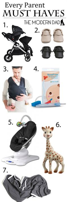 Every Parent Must Haves   The Modern Dad City Select - Freshly Picked - Solly Baby - Nose Frida - mamaRoo - Sofie Giraffe - June and January