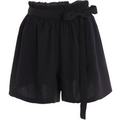 Plus Size Self Tie Culotte Shorts ($20) ❤ liked on Polyvore featuring shorts, short, short shorts, short culottes, plus size culottes, culottes shorts and womens plus size shorts