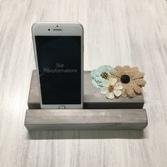 Phone Smartphone Iphone Ipad Mobile Device Wood Stand Docking Charging Station Holder | Work Office School Desk Phone Organizer Phone Decor by SuzTransformations on Etsy