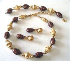Crown Trifari Parure 3 Piece Set  Necklace by SusansShopSelections