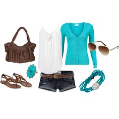 love the turquoise sweater
