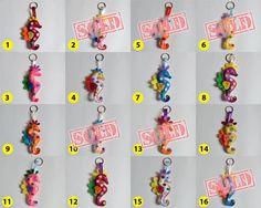 Seahorse Felt Key ring/Charm/Christmas Ornaments on a Greeting