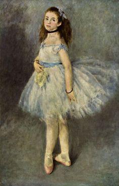 Pierre-Auguste Renoir.  Ballettänzerin. 1874, Öl auf Leinwand, 142 × 93 cm. Washington (D.C.), National Gallery of Art. Frankreich. Impressionismus.  KO 01898