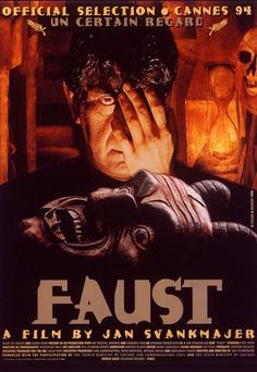 Jan Svankmajer's Faust. Believe it or not, I stumbled across this in the library when I was 14 years old. Love all around.