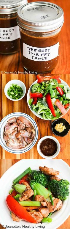 The Best Chinese Stir Fry Sauce - make a batch of this special sauce and you can make stir fries anytime easily ~ http://jeanetteshealthyliving.com