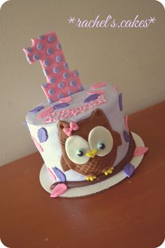 Owl theme smash cake