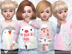 4 styles Found in TSR Category 'Sims 4 Toddler Female'