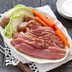 Corned Beef and Cabbage - Cook's Country recipe.