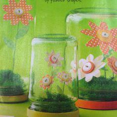 Button flower jars!