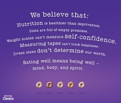Eating well means being well