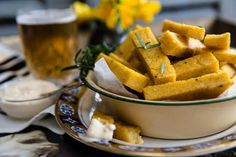 Polenta chips with aioli – Recipes – Bite