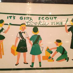 I sold Girl Scout cookies for 50 cents a box back in the day when you could go door to door selling the cookies - not like parents today selling the cookies at work for their kids!