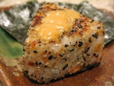 Grilled Salmon Onigiri with Spicy Mayonnaise