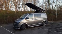 Pop top roof installed by CampingWagon in Hampshire. #poptoproof #camperconversion #HiLo #VWT5 #VWT6