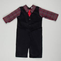 Shirt and Tie Suitsie™ Coverall - fashion starts young